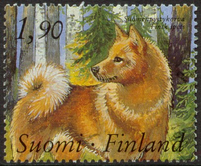Finnish Spitz Stamp from Finland, 1989