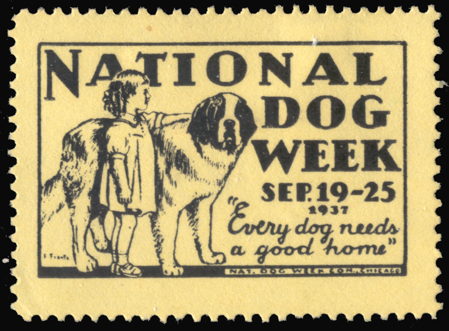 National Dog Week Stamp 1937