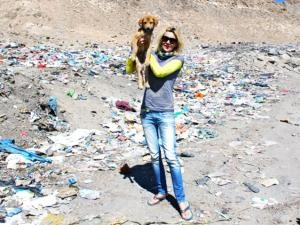 Rupee at the dump in Leh, India