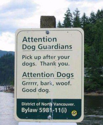 Arf Bark Dog Sign