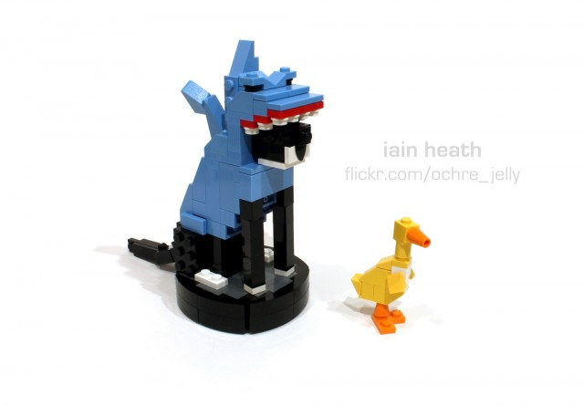 LEGO Roomba shark cat
