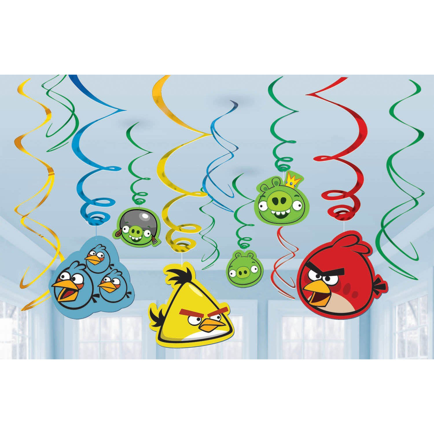 Angry birds party supplies swirl decorations at toystop for Angry birds birthday party decoration ideas