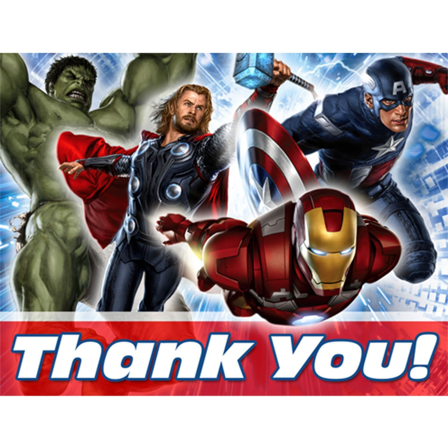 Avengers Party Supplies Postcard Thank You Notes At Toystop