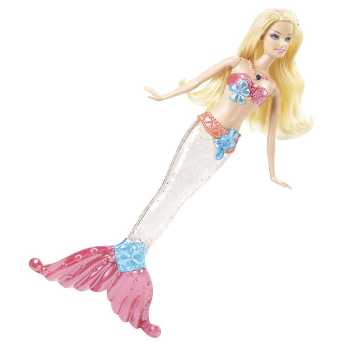 Barbie Doll Sparkle Lights Mermaid Blonde Doll At Toystop
