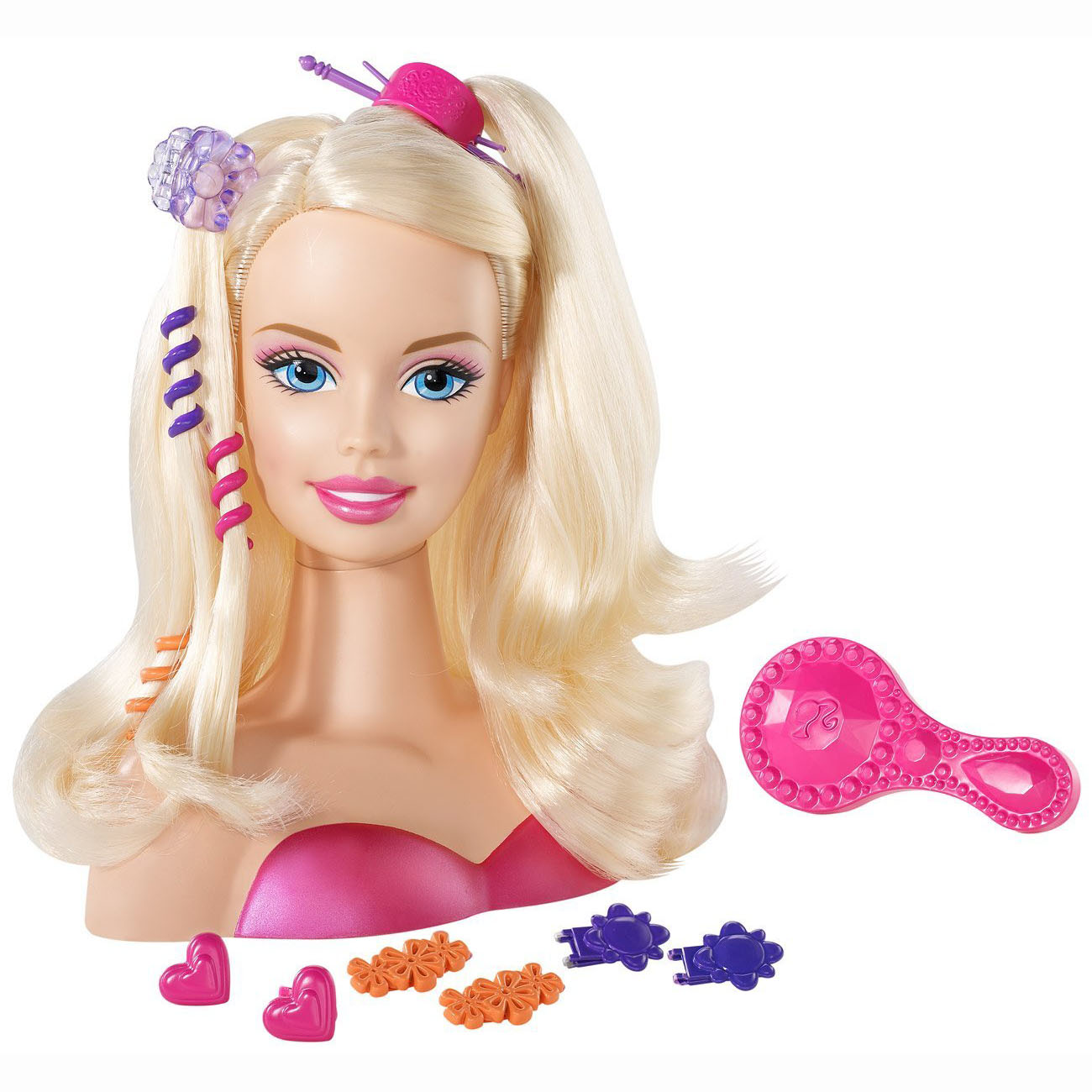 Toys For Hair : Barbie toys blonde styling head at toystop