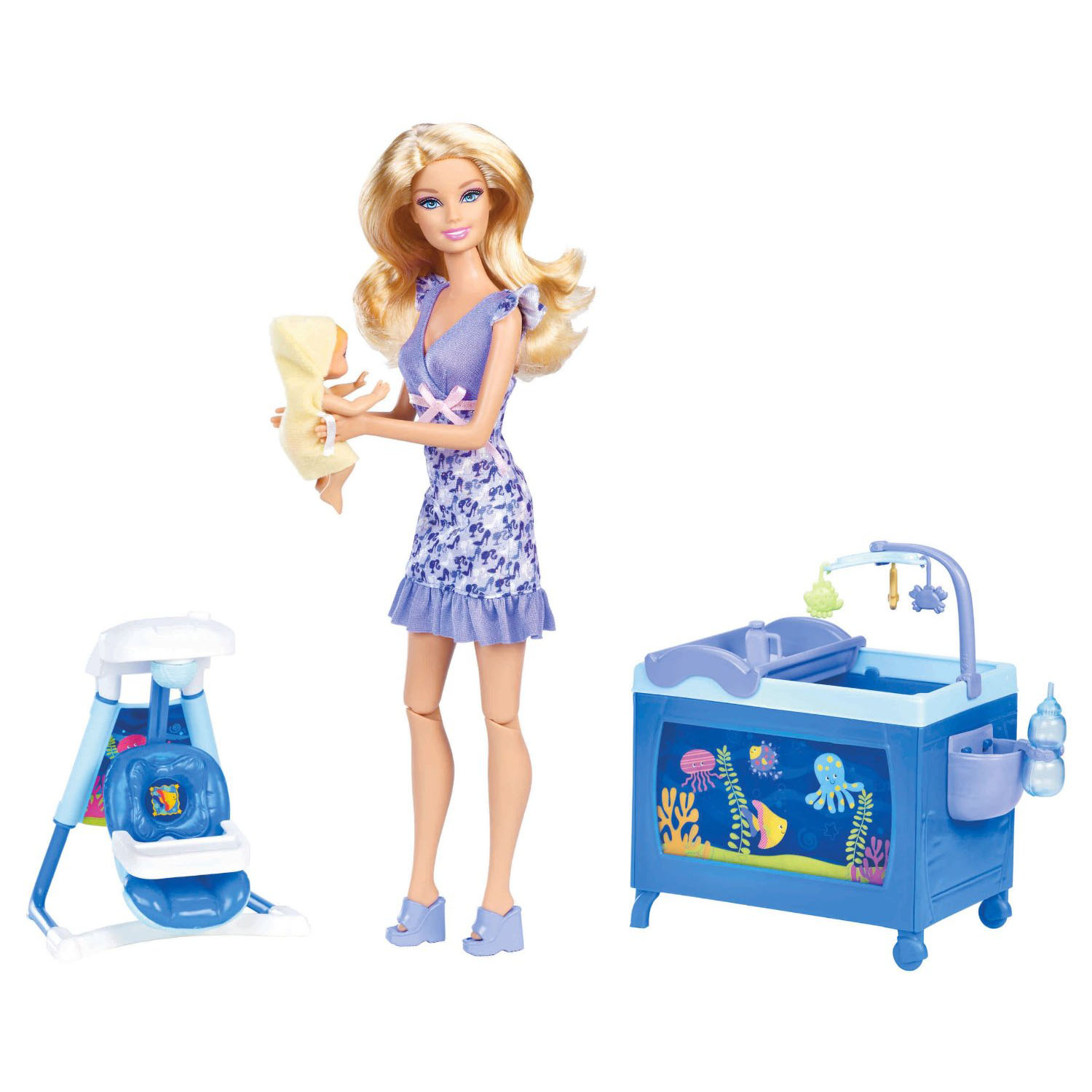 Barbie Toys I Can Be Baby Babysitter Doll Playset At Toystop
