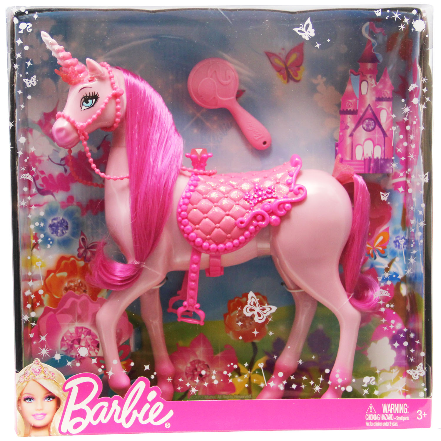 Unicorn Toys For Girls : Barbie toys pink princess unicorn at toystop