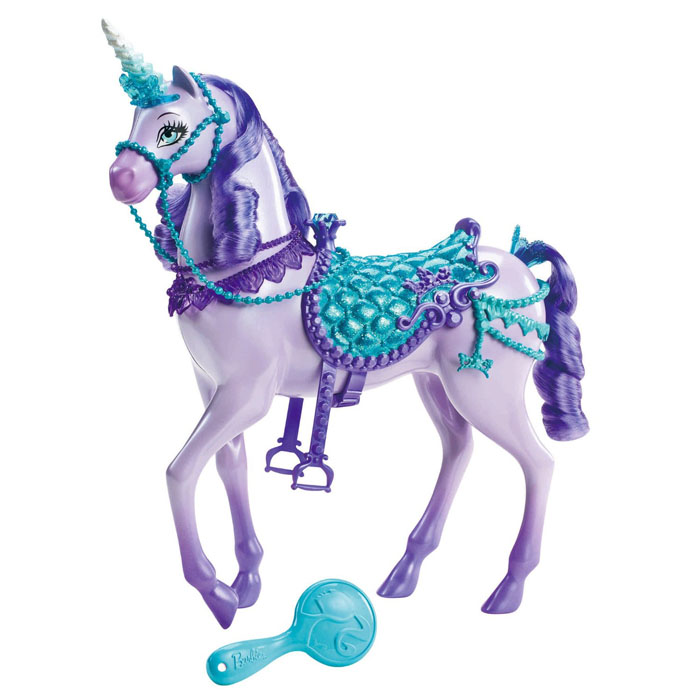 Unicorn Toys For Girls : Barbie toys purple princess unicorn at toystop
