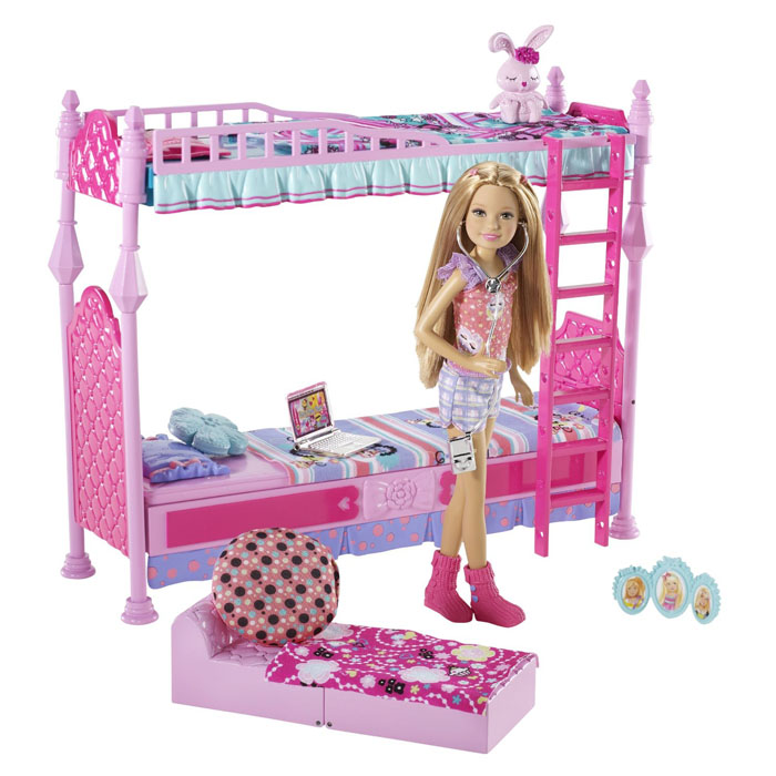 barbie toys sisters sleeptime bedroom and stacie doll set at toystop
