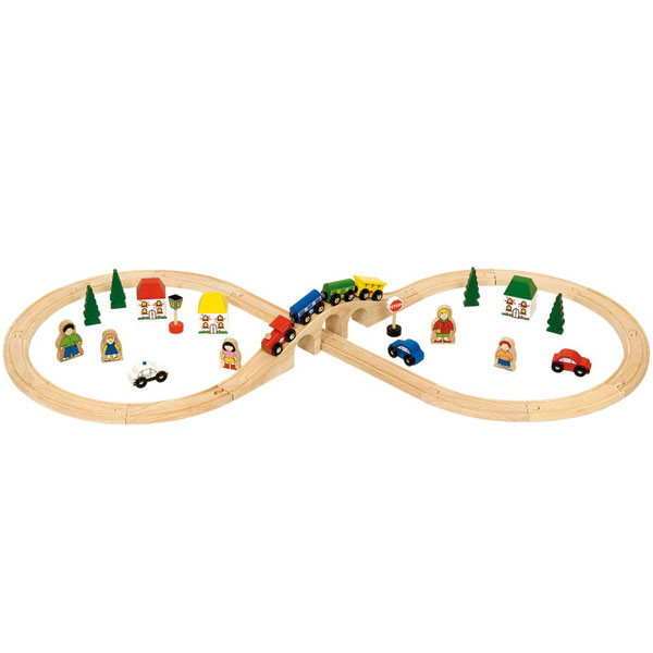 Bigjigs® Wooden Railway - Figure 8 Train Set at ToyStop