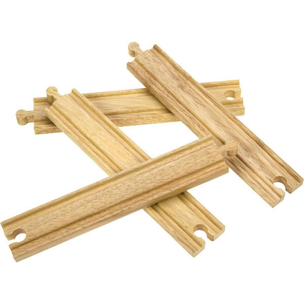 bigjigs wooden railway long straights track pieces at toystop. Black Bedroom Furniture Sets. Home Design Ideas