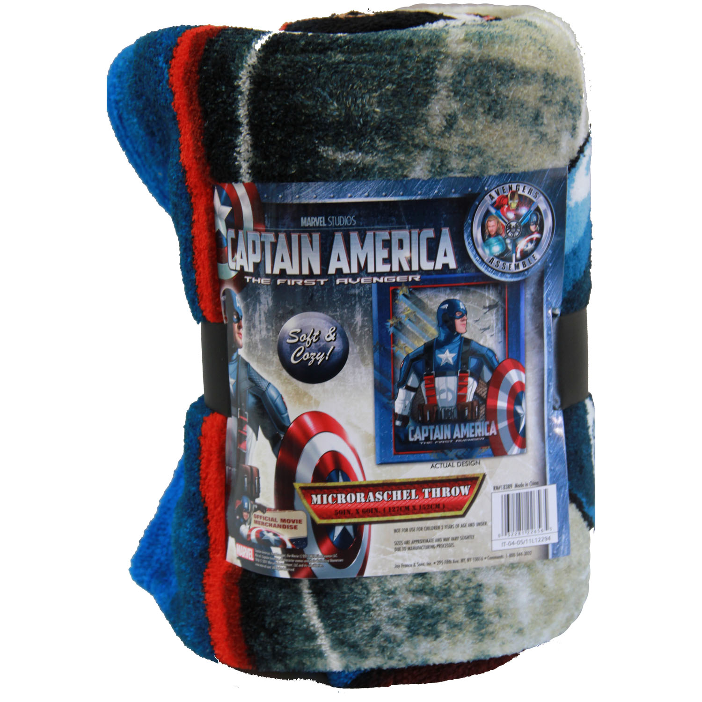 captain america bedding fleece blanket at toystop