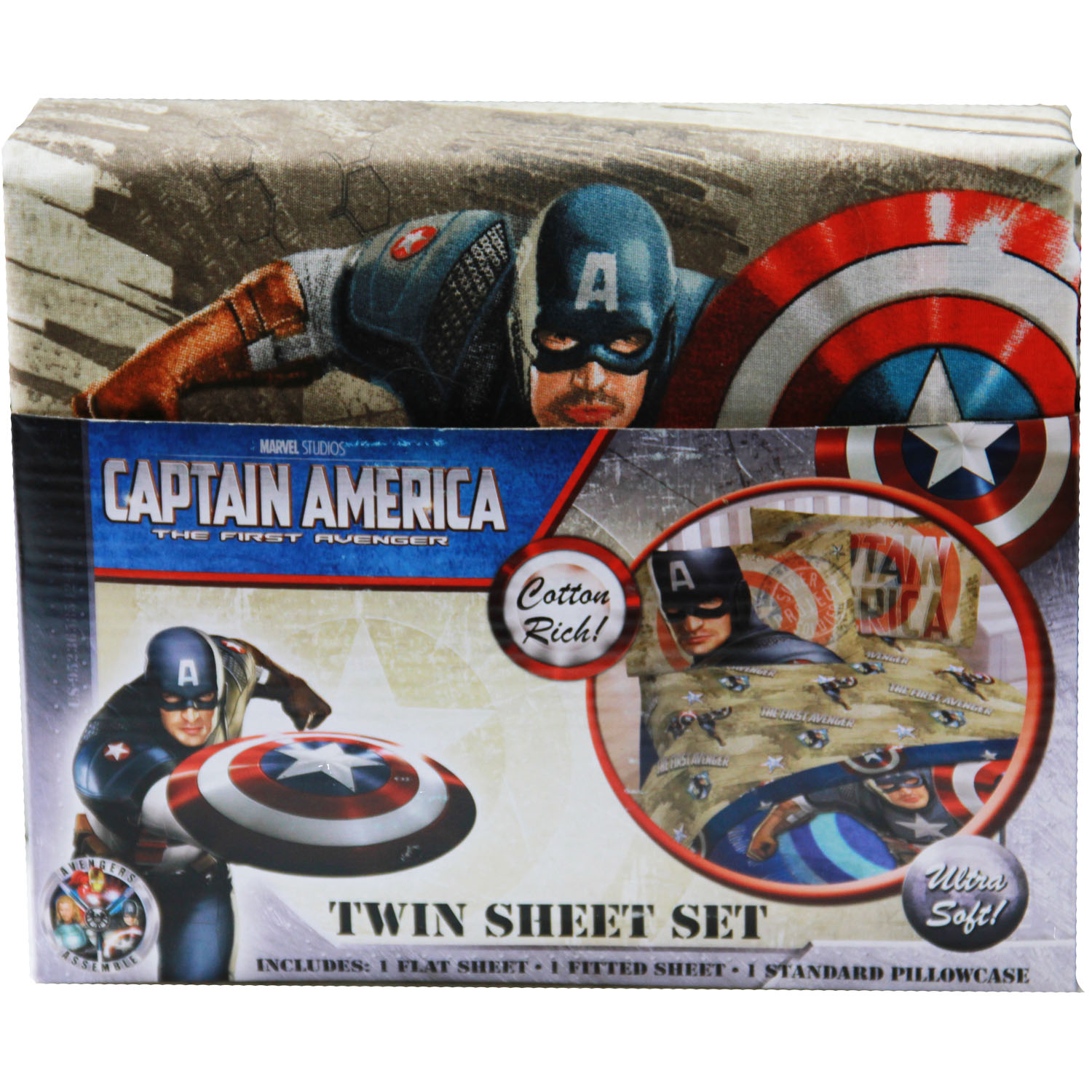 Captain America Bedding Twin Sheet Set At Toystop