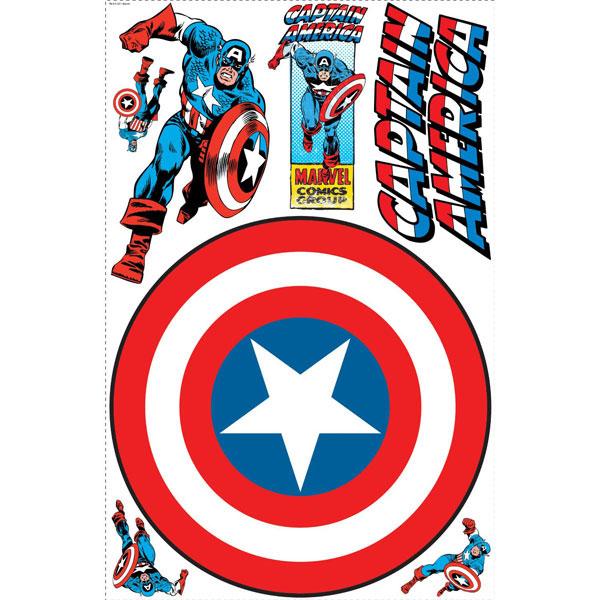 Captain America Bedroom Decor Vintage Shield Giant Wall