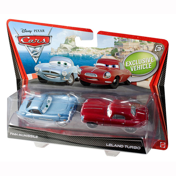 Cars 1 And 2 Toys : Disney cars toys finn mcmissile and leland turbo die