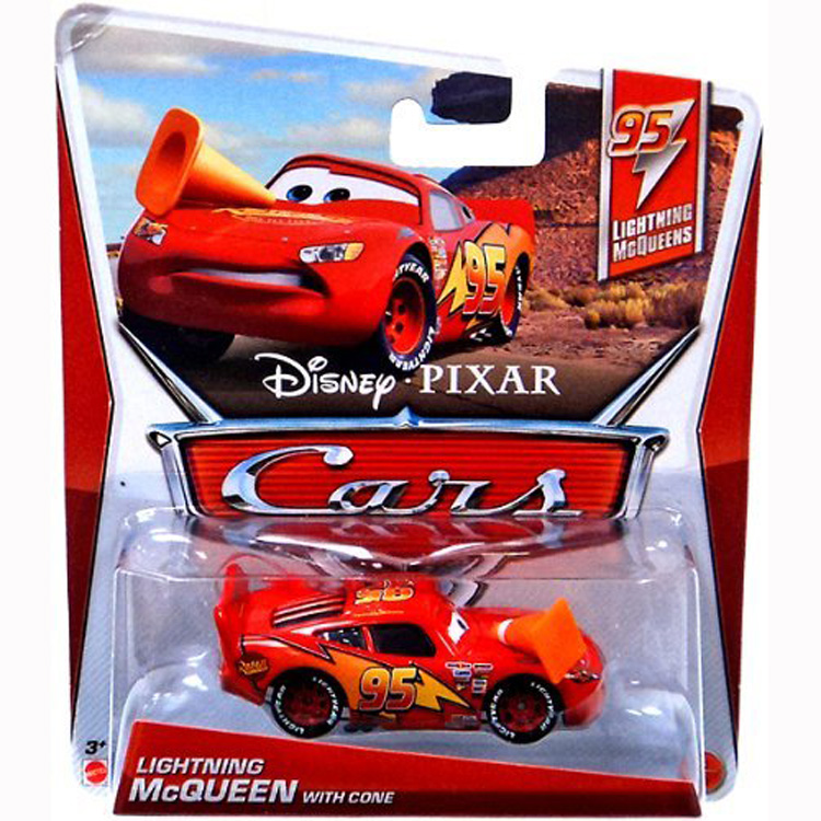 Disney Cars Toys   Lightning McQueens McQueen with a Cone at ToyStop SJ3QggXu