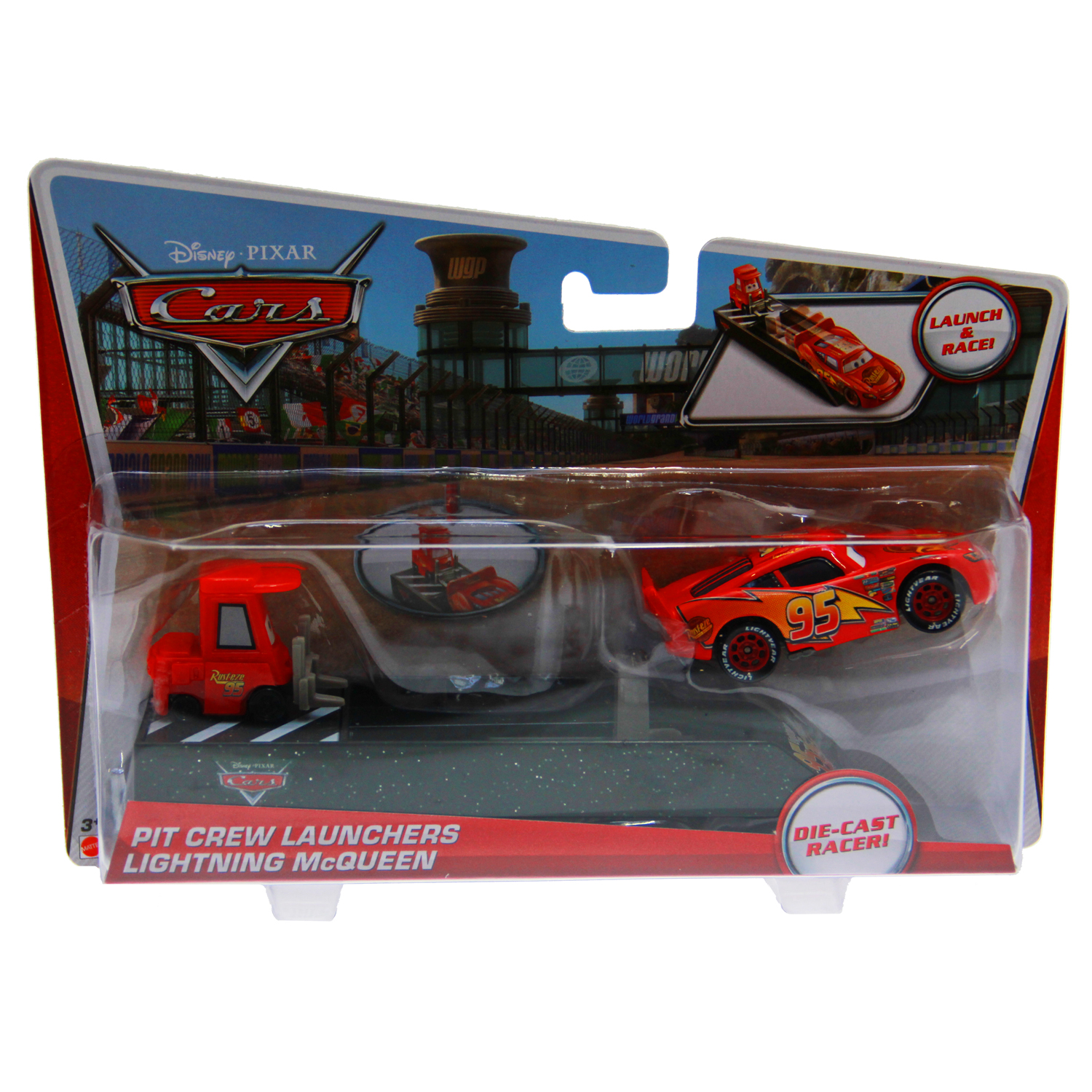 Disney Cars Toys - Pit Crew Launcher Lightning McQueen at ToyStop