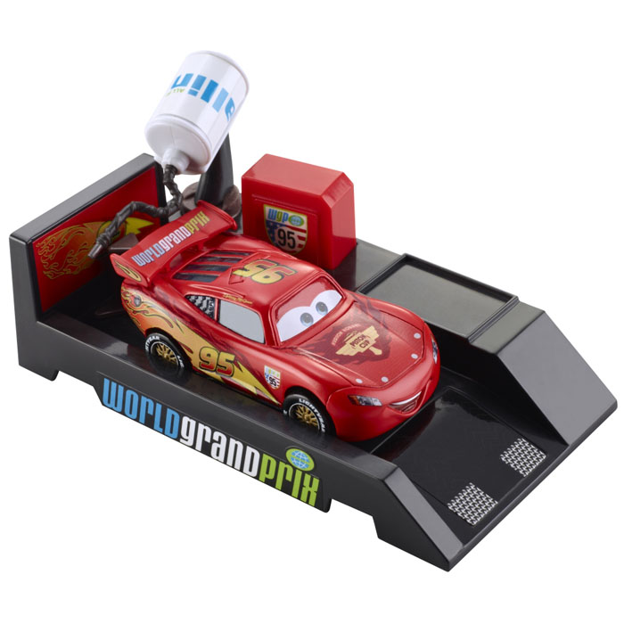 Disney Cars Toys   Pit Stop Launchers Lightning McQueen at ToyStop ZgkkIMeD