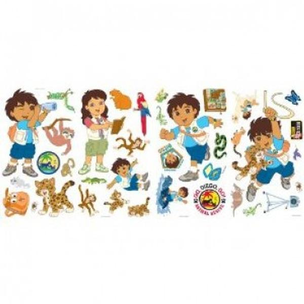 go diego go bedroom decor diego amp friends wall stickers express invitations birthday party supplies party favors