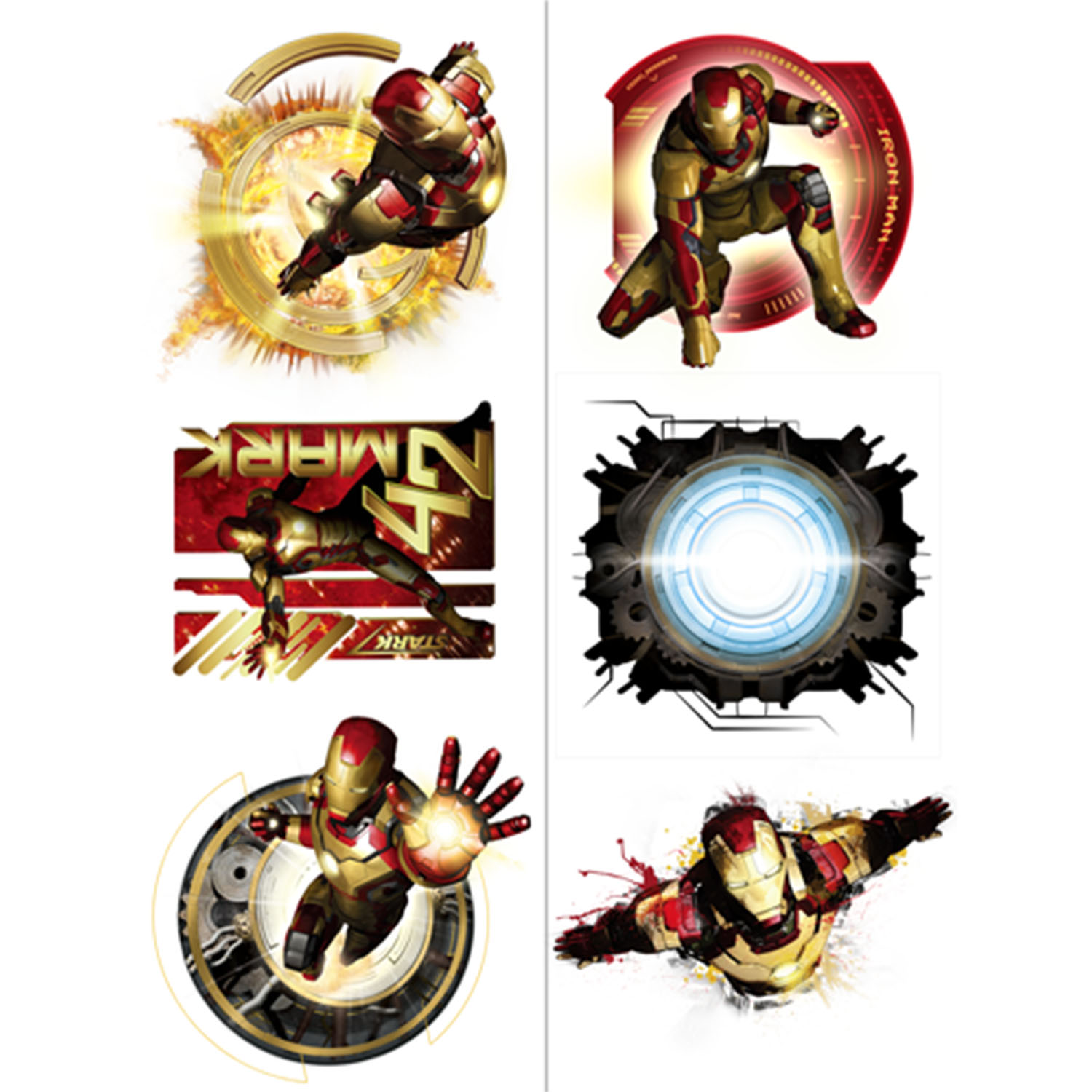 Iron man party supplies iron man 3 tattoos at toystop for Tattoo party ideas