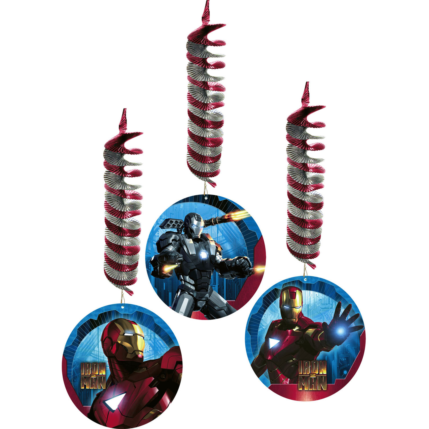 Iron Man Party Supplies Swirl Decorations At Toystop