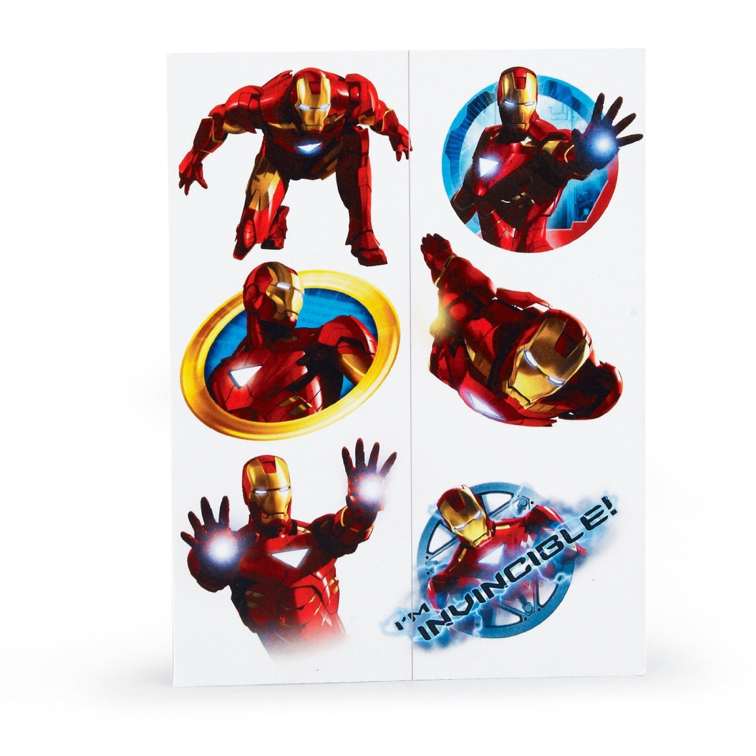 Iron man party supplies temporary tattoo favors at toystop for Tattoo party ideas