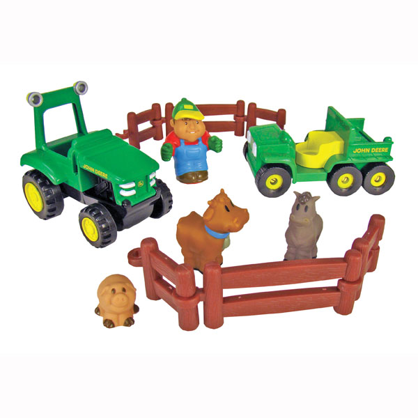 John Deere Toys   Farm Fun Playset at ToyStop y0MPuqGz