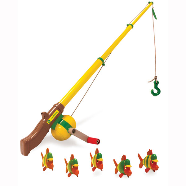 John deere toys fishing pole at toystop for Fisher price fishing pole