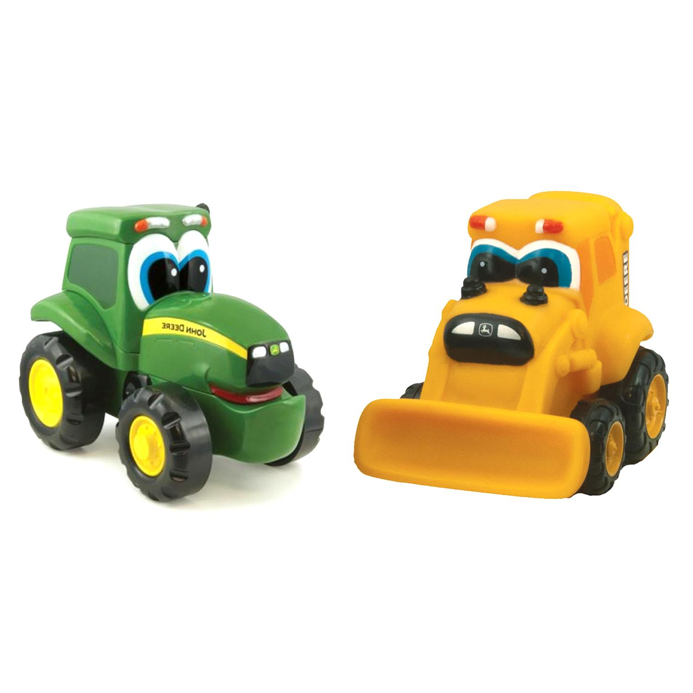 John deere toys soft mini johnny tractor amp barney backhoe at toystop