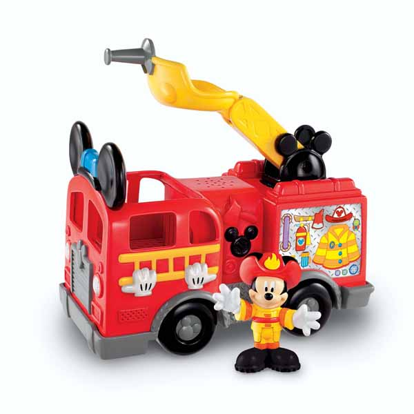 Mickey Mouse Clubhouse Toys   Mickeys Fire Truck at ToyStop OSCzrWiB