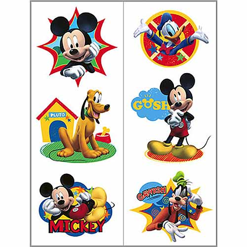 Mickey mouse party supplies temporary tattoo favors at for Tattoo party ideas