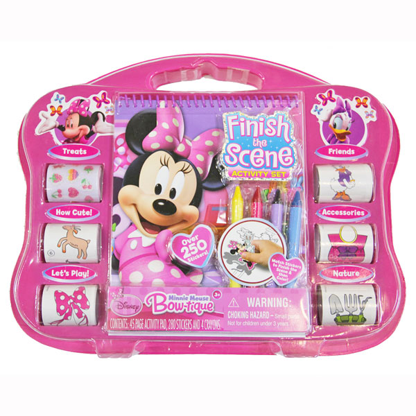 Minnie Mouse Toys : Minnie mouse toys finish the scene activity at toystop