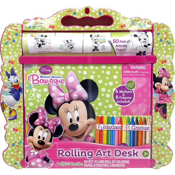 Minnie Mouse Toys Rolling Art Desk At Toystop