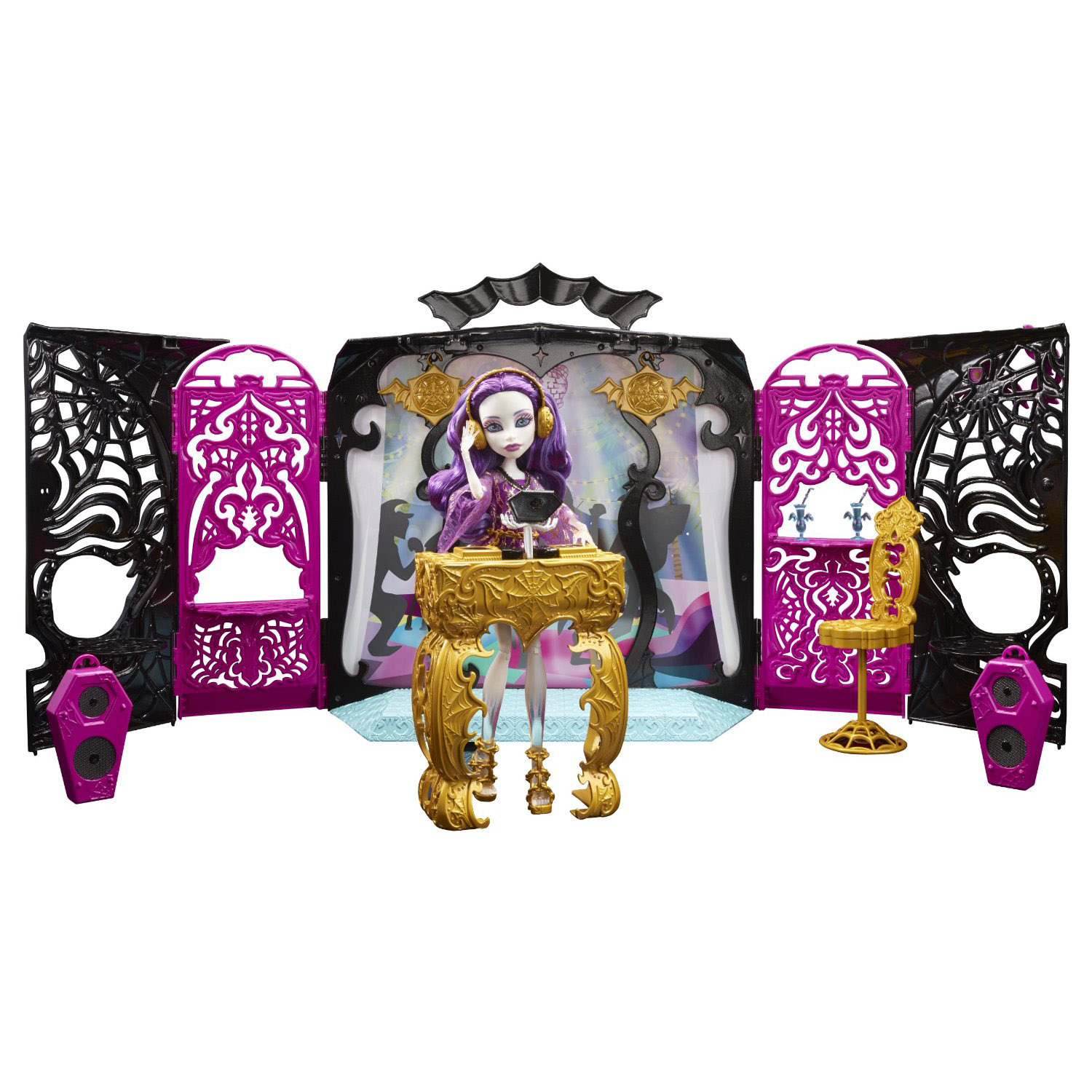 monster high toys 13 wishes room party set at toystop. Black Bedroom Furniture Sets. Home Design Ideas