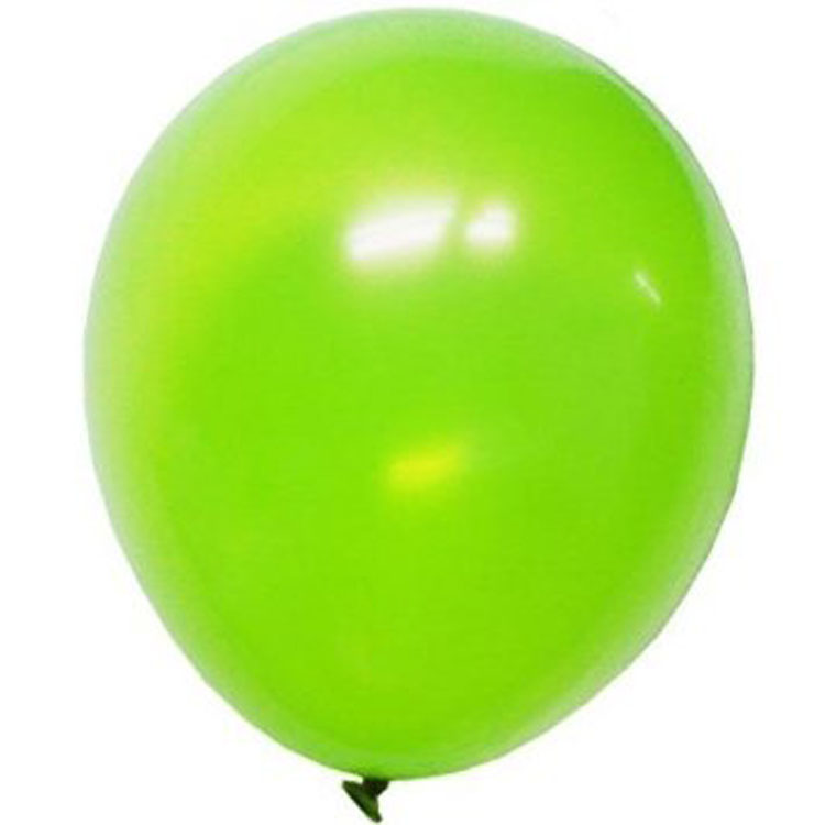 Add to the theme of any party with these lime green latex balloons