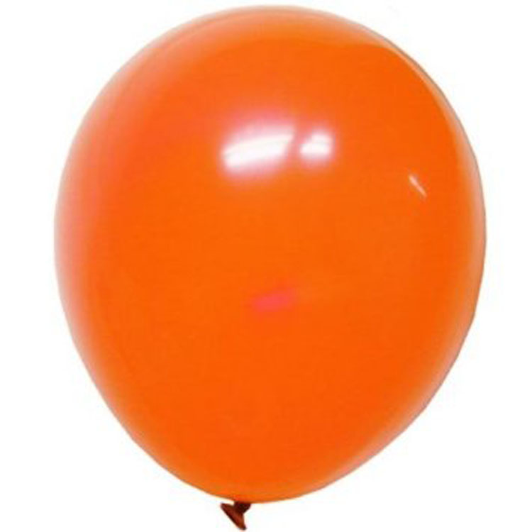 Add to the theme of any party with these orange latex balloons each