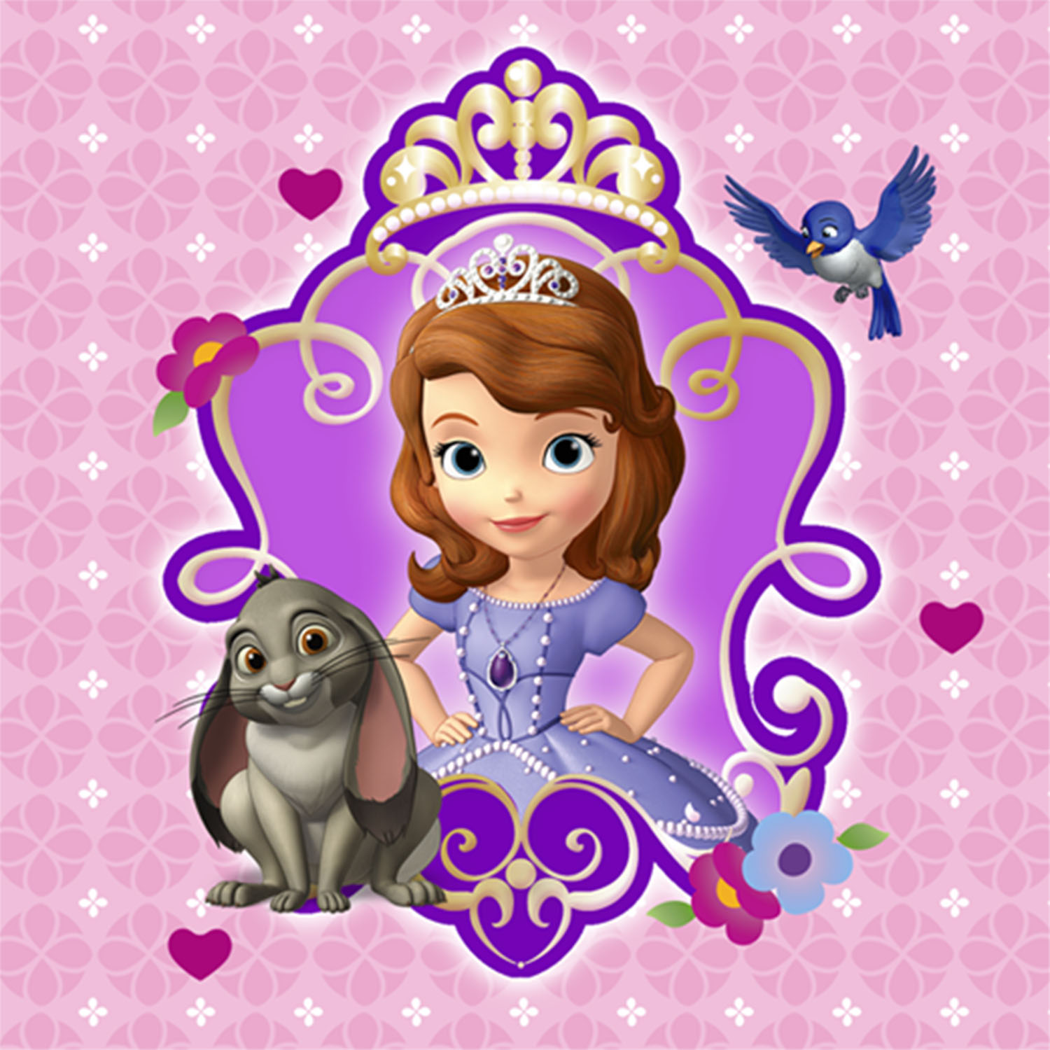 Sofia The First Party Supplies 5 Inch Beverage Napkins At ToyStop