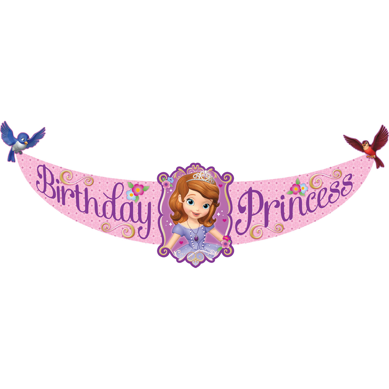 Sofia The First Party Supplies Birthday Banner At ToyStop
