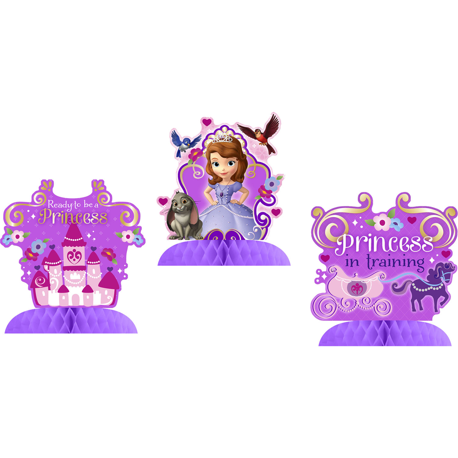 sofia the first party supplies party centerpieces at toystop. Black Bedroom Furniture Sets. Home Design Ideas