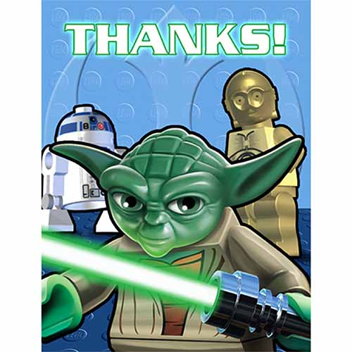 Star Wars LEGO Party Supplies - Postcard Thank You Notes at ToyStop