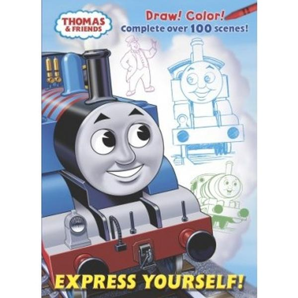 The train books express yourself coloring amp activity book at toystop