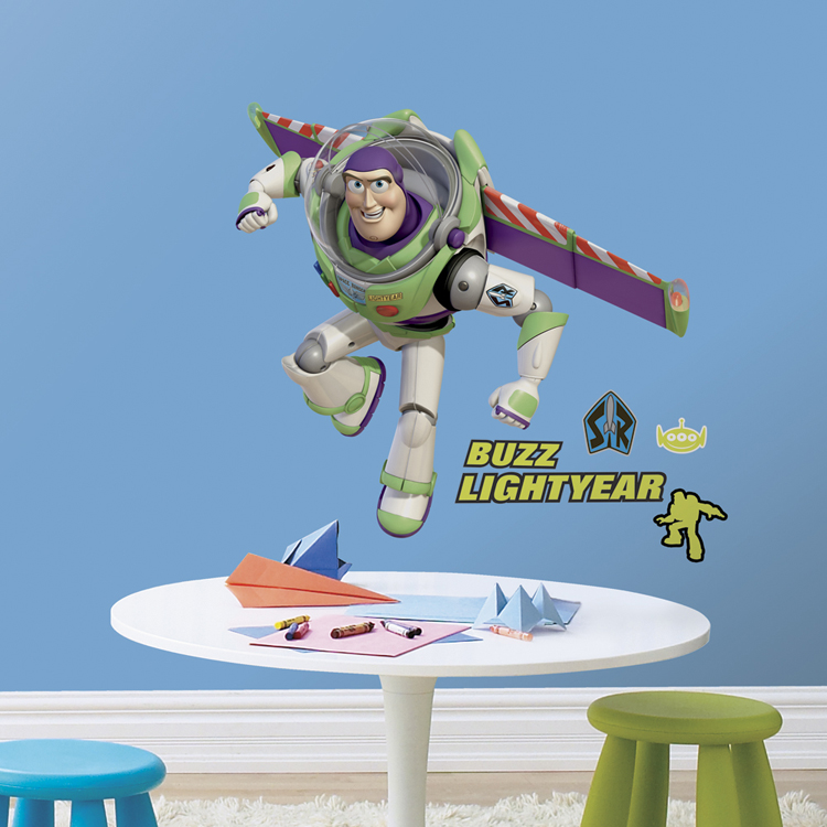 Toy story bedroom decor buzz lightyear giant wall for Buzz lightyear wall mural