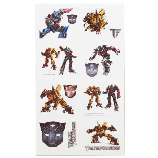 Transformers party supplies temporary tattoo favors at for Tattoo party ideas